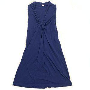J. Crew Cotton Navy Sleeveless Summer Wrap Dress S